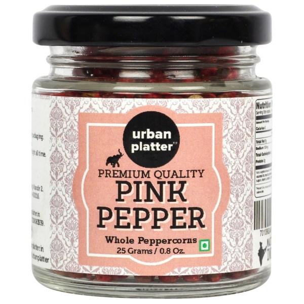Urban Platter Pink Pepper Whole Pepper corns, 25g/0.8oz [Premium Quality, Fruity, Bioflavonoids]