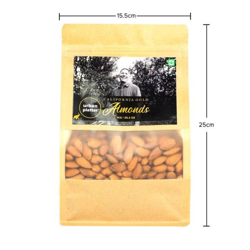 Urban Platter California Gold Almonds, 1Kg / 35.2oz [All Natural, Shelled Non-Pareil, Delicious Badam!]