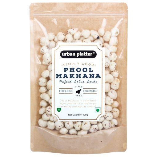 Urban Platter Puffed Fox Nuts (Unroasted Makhana), 100g