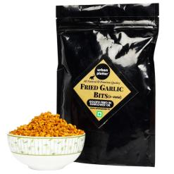 Urban Platter Fried Garlic Bits, 400g / 14.1oz [3-4mm, Crunchy, Golden Fried in Sunflower Oil]