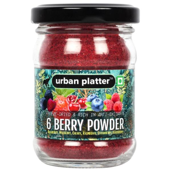 Urban Platter Freeze-Dried 6 Berry Powder, 50g / 1.8oz [Blueberry, Mulberry, Cherry, Raspberry, Strawberry and Blackberry]