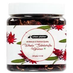 Urban Platter Whole Sabdarifa Hibiscus, 100g / 3.5oz [All Natural, Premium Quality, Herbal Tea]