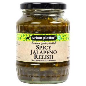 Urban Platter Spicy Jalapeno Relish, 375g / 13.2oz [Spicy, Delicious & Savoury]