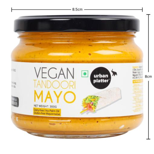 Urban Platter Vegan Tandoori Mayo, 300g / 10.6oz [Dairy-free Mayonnaise, No Palm Oil, No Trans-fat]