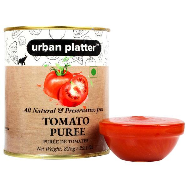 Urban Platter Tomato Puree Can, 825g / 29.1oz [All Natural, Preservative-free, Puree De Tomates]