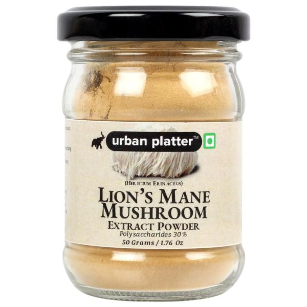 Urban Platter Lion's Mane Mushroom Extract Powder, 50g / 1.76oz [Hericium Erinaceus, Healthy Tonic, All Natural]