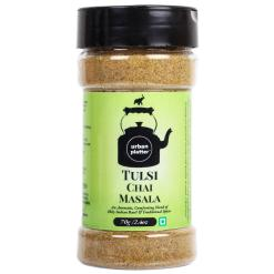Urban Platter Chai Masala, Tulsi (Basil), 70g / 2.4oz [Spice Blend For Extraordinary Tea Experience, Taste Enhancer]