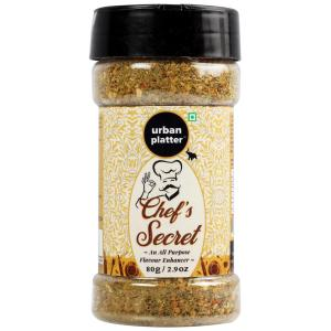 Urban Platter Chef's Secret Seasoning Mix Shaker Jar, 80g [All Natural, Salt-free, All Purpose Flavour Enhancer]