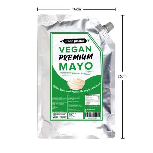 Urban Platter Vegan Premium Mayo, 1Kg / 35.27oz [Dairy-free Mayonnaise, No Palm Oil, No Trans-fat] [HoReCa]