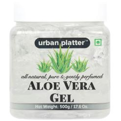 Urban Platter Aloe Vera Gel, 500g [All-natural, Pure & Gently Perfumed]