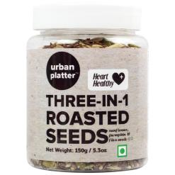 Urban Platter 3-in-1 Roasted Seeds (Sunflower, Pumpkin & Flax Seeds, Version 2.0 with Improved Packaging), 150g