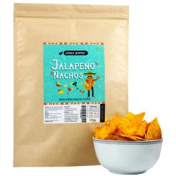 Urban Platter Jalapeno Nachos, 200g / 7oz [100% Corn Nacho Chips, Party Pack]