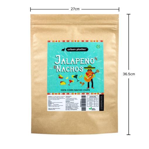 Urban Platter Jalapeno Nachos, 200g / 7oz [100% Corn Nacho Chips, Party Pack]