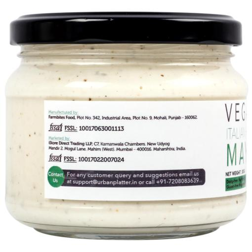 Urban Platter Vegan Italian Herb Mayo, 300g / 10.6oz [Dairy-free Mayonnaise, No Palm Oil, No Trans-fat]