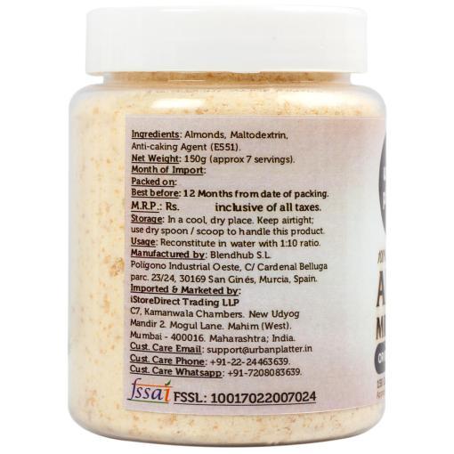 Urban Platter Almond Milk Powder, 150g / 5.3oz [Unsweetened, Dairy-free, Vegan]