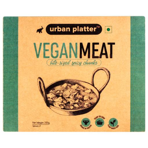 Urban Platter Classic Vegan Meat (Soyabean), 200g / 7oz [MockMeat, Ready to Cook, Plant-Based Protein]