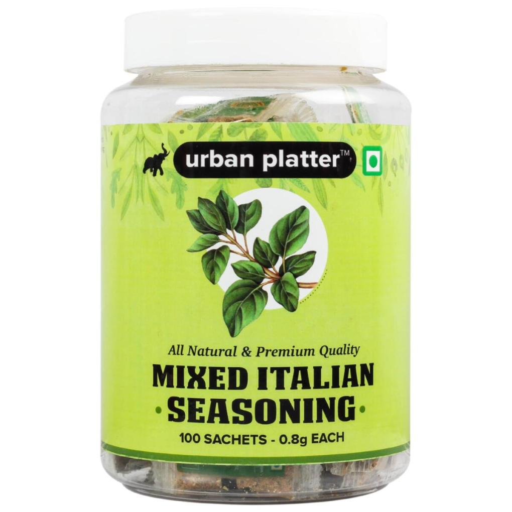 Urban Platter Mixed Italian Seasoning Sachets, 100 Sachets (0.8g Each, Perfect for Pizza, Picnics, Tiffins)