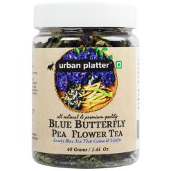 Urban Platter Blue Butterfly Pea Flower Tea, 40g / 1.41oz [Premium Blue Tea, Brain Stimulant, Rich in Antioxidants]