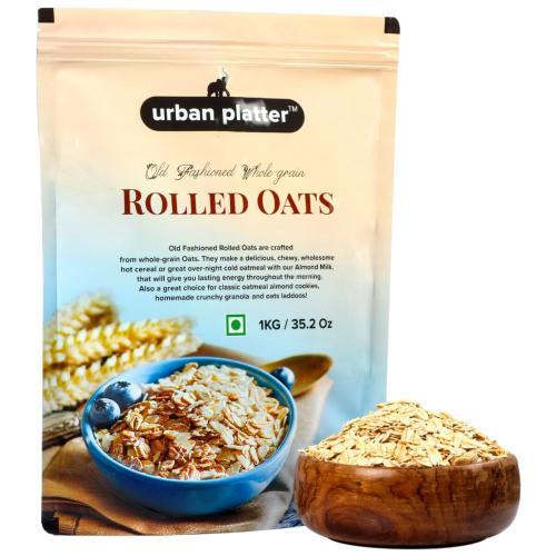 Urban Platter Rolled Oats, 1Kg [All Natural, High-fiber, Nutritious]