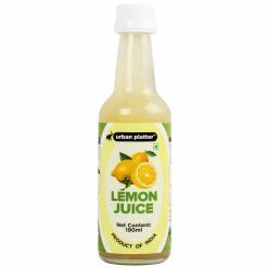Urban Platter Lemon Juice Concentrate in Glass Bottle, 190ml [Equivalent of 25 Lemons!]