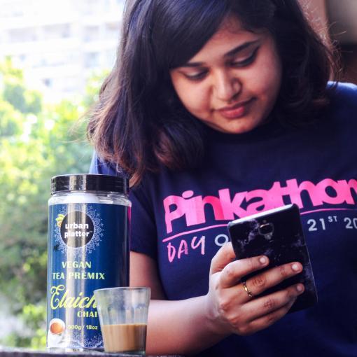 Urban Platter Vegan Tea Premix, Elaichi Chai, 500g / 18oz [Just Add Water, Cardamom Tea, Dairy-Free Instant Tea]