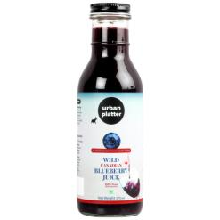 Urban Platter Wild Canadian Blueberry Juice, 375ml [Made from 100% Pure, Natural Wild Blueberries]