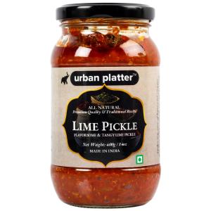Urban Platter Lime Pickle, 400g / 14oz [Flavorsome & Tangy Lime Pickle, Traditional Recipe]