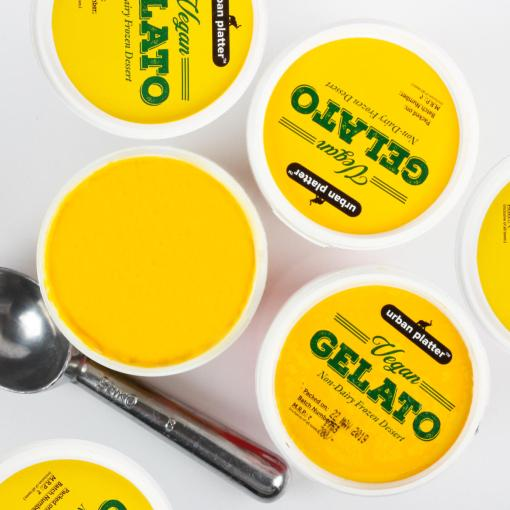 Urban Platter Vegan Gelato, Mango Ice Cream, 450g / 450ml [Dairy-free, 6 Servings Per Container, Frozen Dessert]