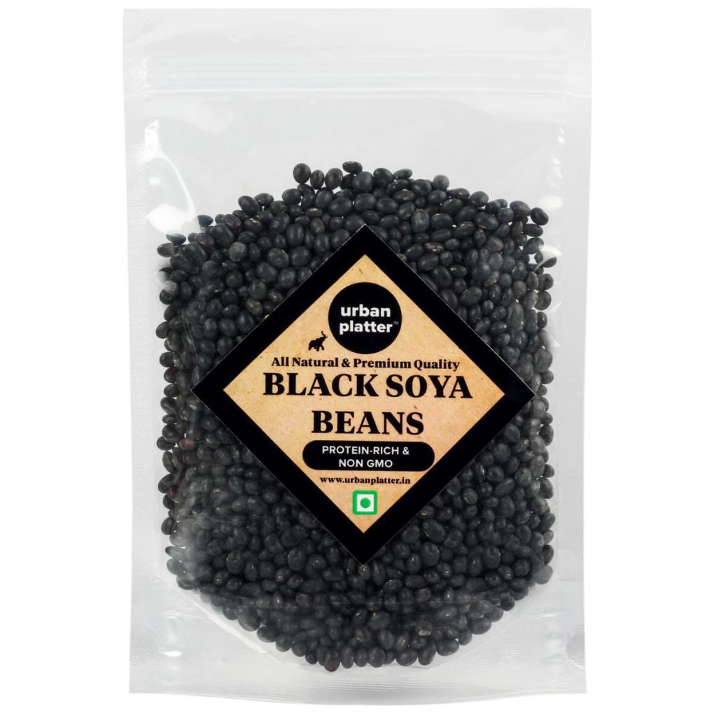 Urban Platter Black Soya Beans, 1Kg / 35.27oz [Premium Quality, Protein Rich, Non-Gmo]