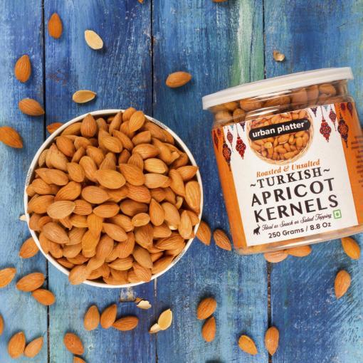 Urban Platter Roasted & Unsalted Turkish Apricot Kernels, 250g