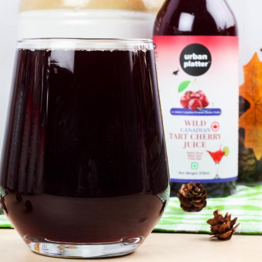Urban Platter Wild Canadian Tart Cherry Juice, 375ml [Premium Quality, Pure & Delicious, 100% Pure Wild Tart Cherries]
