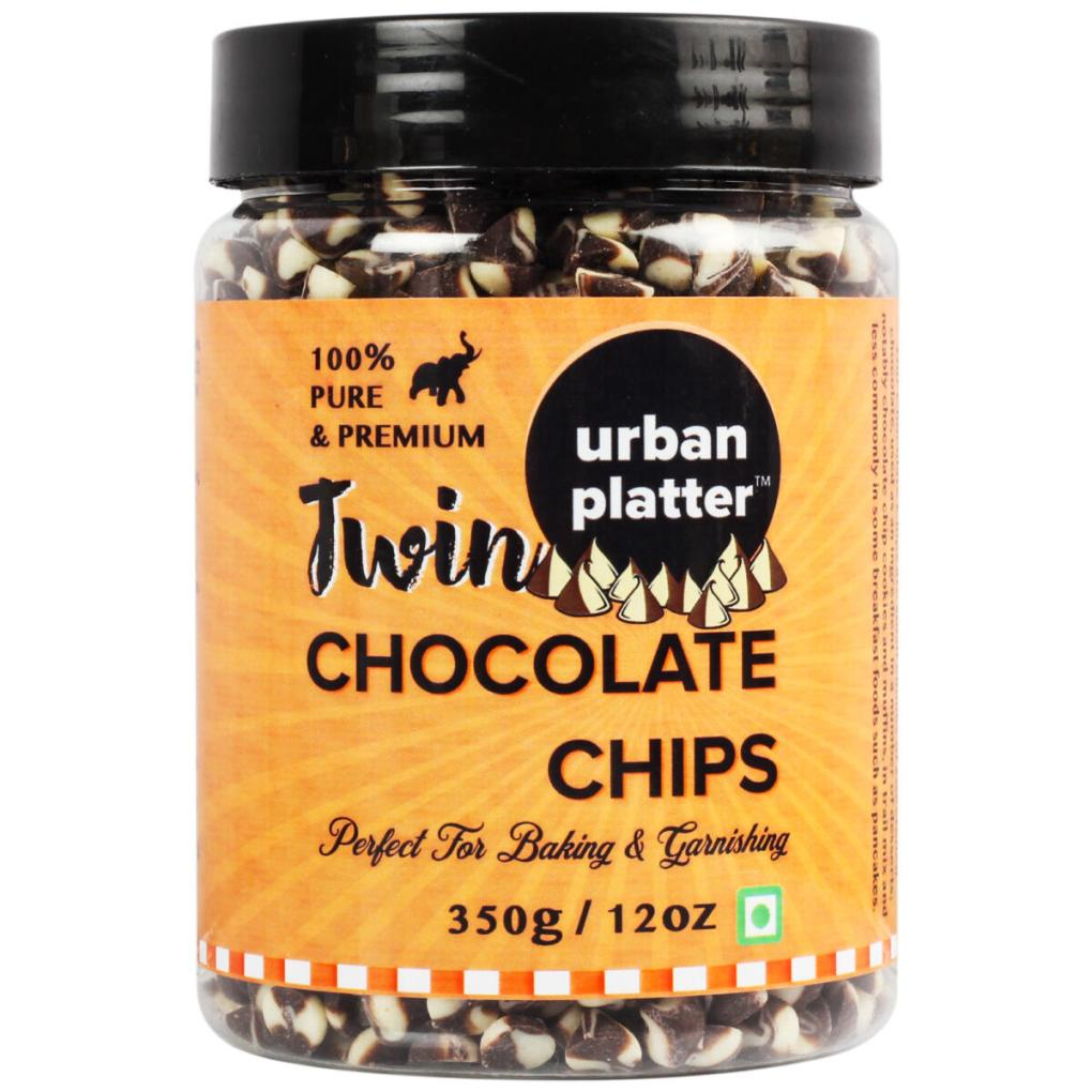 Urban Platter Dark & White Twin Chocolate Chips, 350g