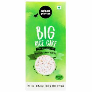 Urban Platter Puffed Organic Quinoa and Brown Big Rice Cakes, 125g