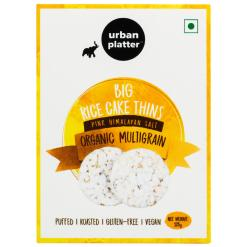 Urban Platter Organic Multigrain Big Rice Cake Thins, 125g