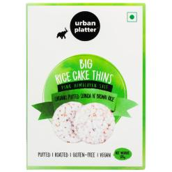 Urban Platter Puffed Organic Quinoa and Brown Big Rice Cake Thins, 125g