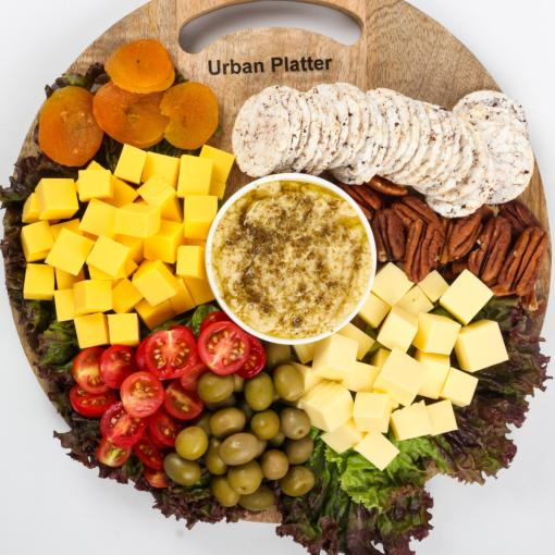 Urban Platter Organic Puffed Flax Seeds with Brown Big Rice Cake Thins, 125g