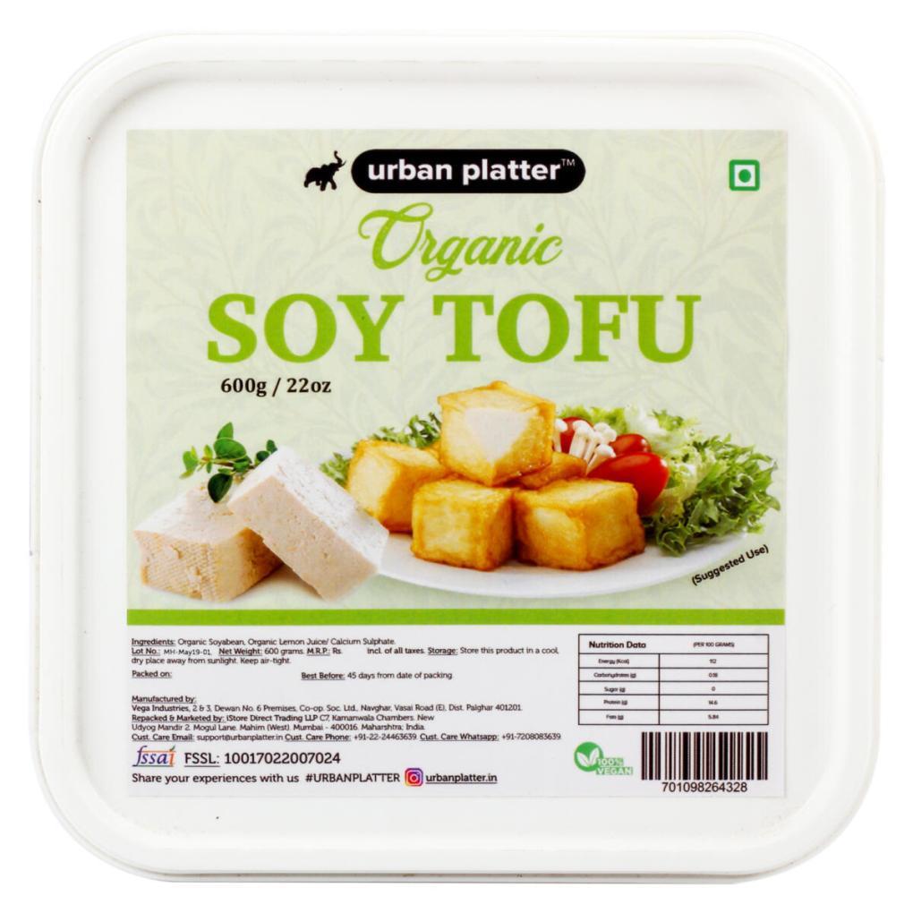 Urban Platter Organic Tofu, 600g / 22oz [Vegan, Protein Rich, Dairy-Free]