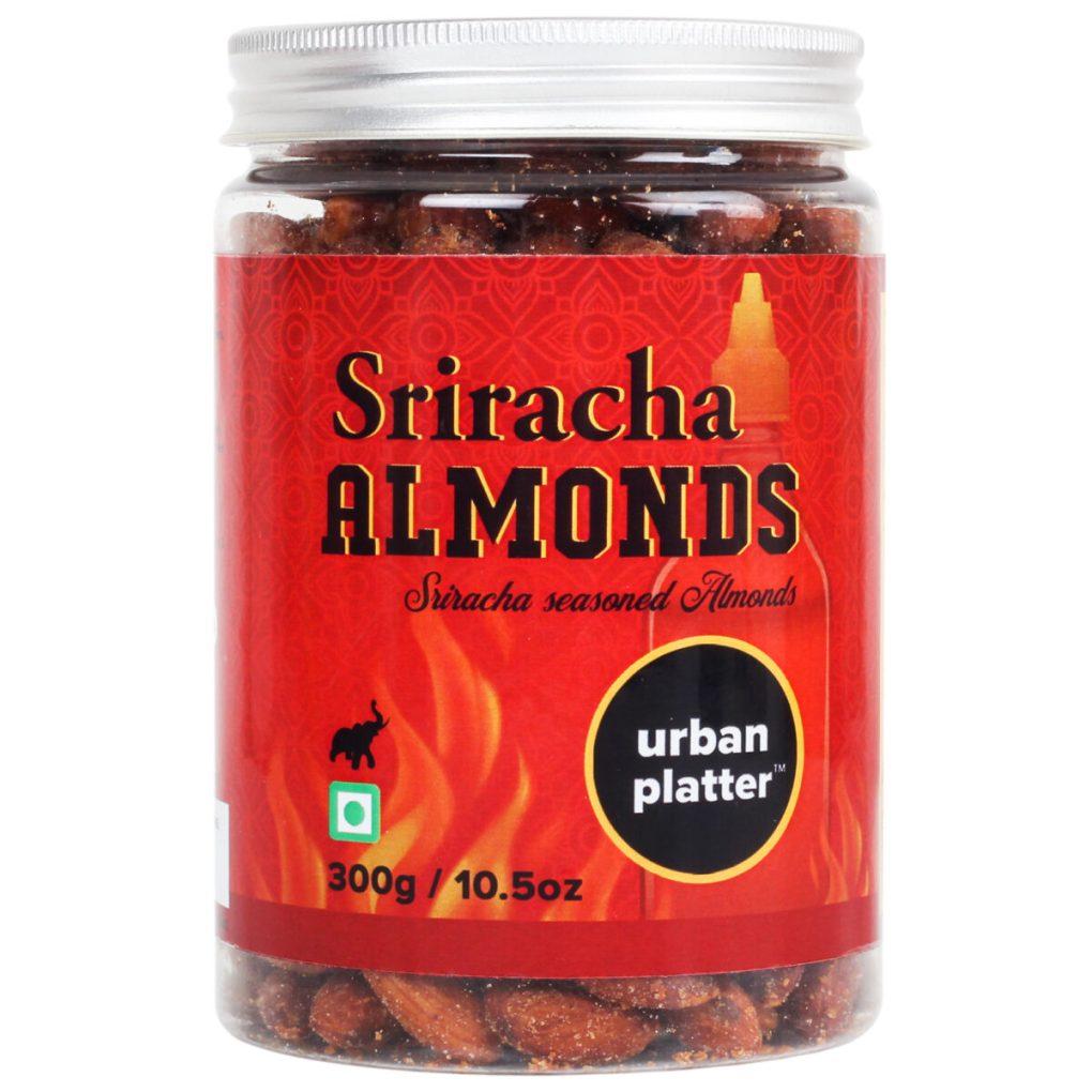 Urban Platter Sriracha Almonds, 300g