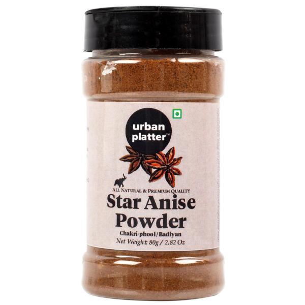 Urban Platter Star Anise Powder Shaker Jar, 80g / 2.82oz [Powdered Chakri Phool, Badiyan]
