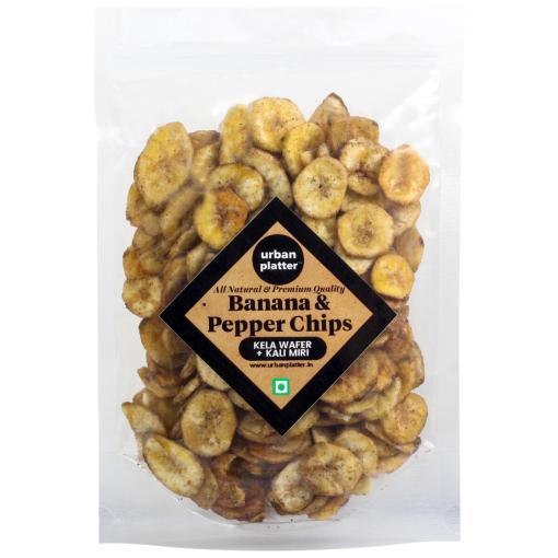 Urban Platter Black Pepper Banana Chips, 400g