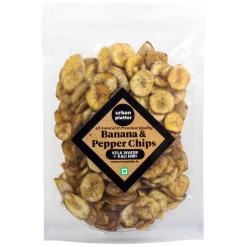 Urban Platter Black Pepper Banana Chips, 400g