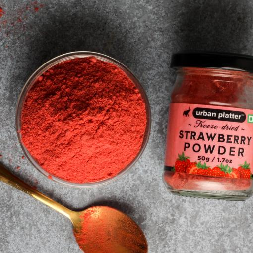 Urban Platter Freeze-Dried Strawberry Powder, 50g / 1.7oz [High in Vitamin C and Natural Flavour]