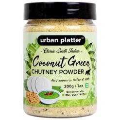 Urban Platter South Indian Style Instant Coconut Green Chutney Powder, 200g / 7oz [Nariyal ki Chutney, Just Add Water]