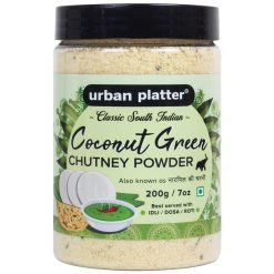 Urban Platter South Indian Style Instant Coconut Green Chutney Powder, 200g / 7oz [Nariyal ki Chutney, Just Add Water]