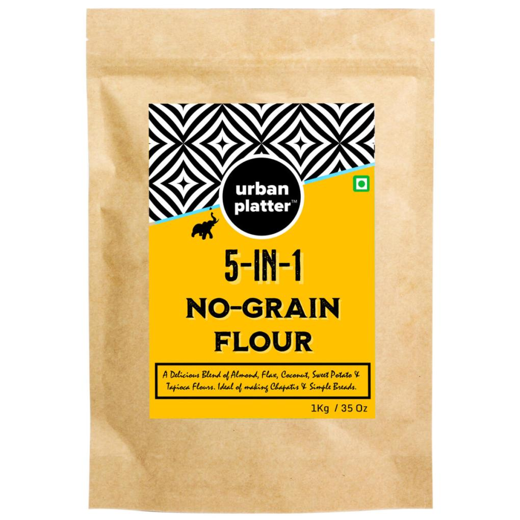 Urban Platter 5 in 1 No Grain Flour, 1Kg / 35.2oz [Blend of Almond, Flax, Coconut, Sweet Potato, Tapioca Flour]