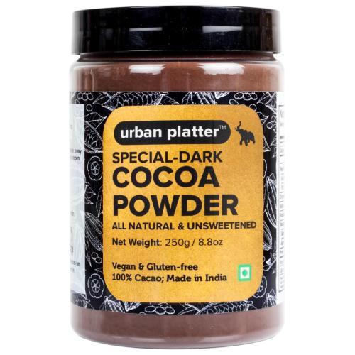 Urban Platter Special Dark Cocoa Powder, 250g [All Natural, Unsweetened, Vegan & Gluten-Free]