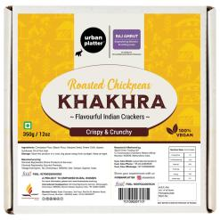 Urban Platter Crispy Roasted Chickpeas Khakhra (Crackers), 350g / 12oz [Powered By Shrimad Rajchandra Women Empowerment Programme]