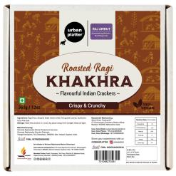Urban Platter Crispy Roasted Ragi Khakhra (Crackers), 350g / 12oz [Powered By Shrimad Rajchandra Women Empowerment Programme]