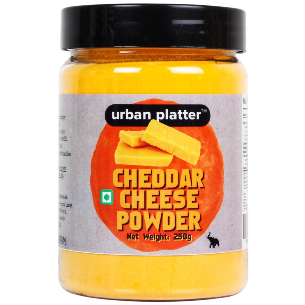 Urban Platter Cheddar Cheese Powder, 250g [Perfect for Pop-corn, Making Cheese Sauce for Nachos, Sprinkling on French Fries]