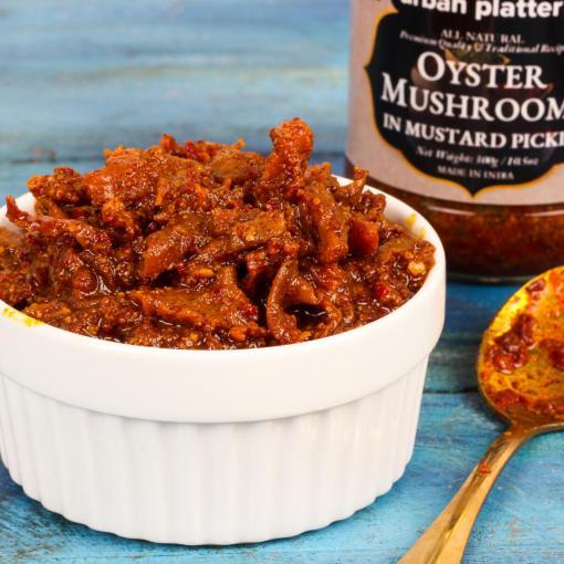 Urban Platter Oyster Mushroom in Mustard Pickle, 300g